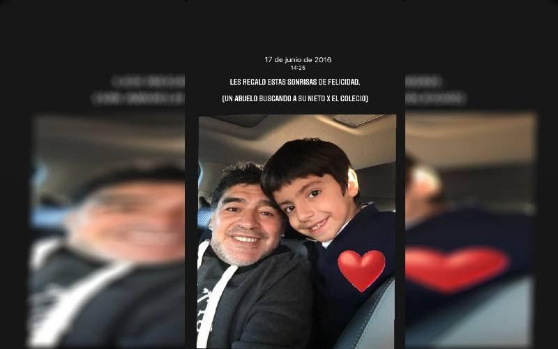 El emotivo homenaje de Benjamín Agüero a su abuelo, Diego Maradona
