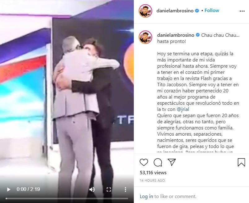 """Renunció Daniel Ambrosino a """"Intrusos"""" tras 20 años: los motivos de su despedida"""