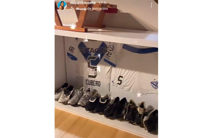 Mica Viconte compartió cómo es el vestidor de Fabián Cubero