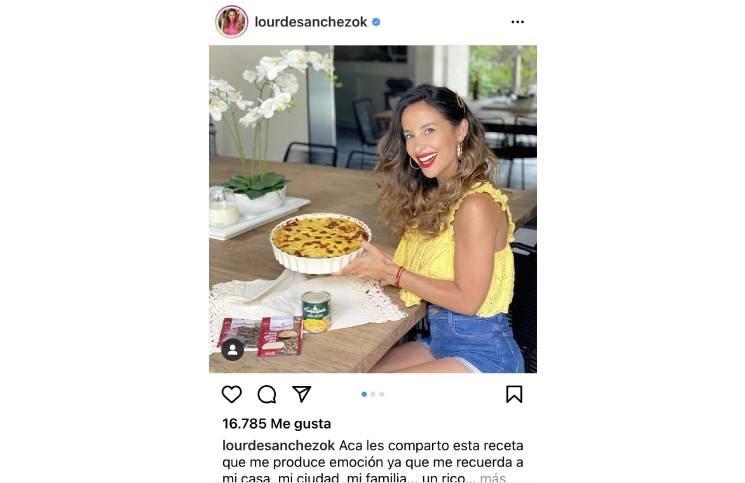 Lourdes Sánchez expresó su enojo en Instagram